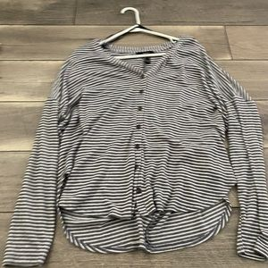 forever 21 high low button up top